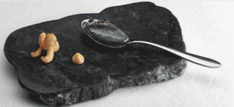 Flor de sepia líquida- esferificación inversa