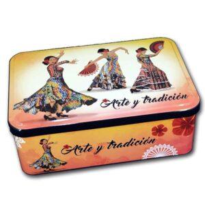 Caja bailarinas flamencas con galletas
