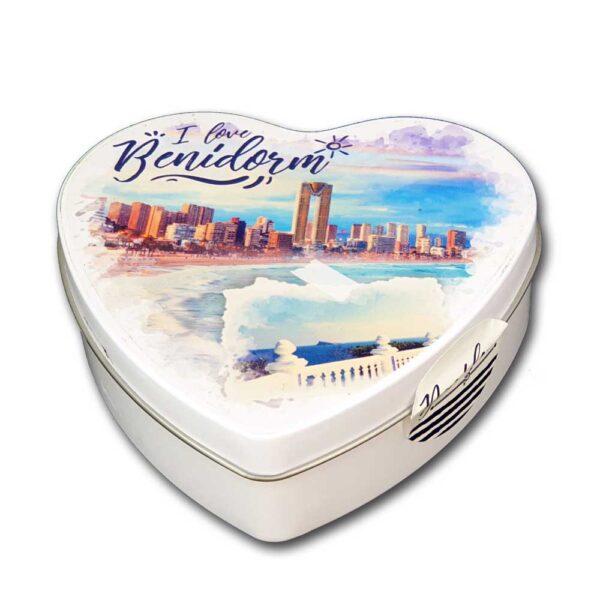 Caja souvenir Benidorm corazón