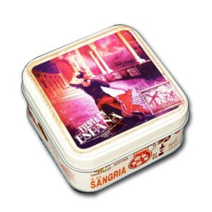 "Mini caja metal souvenir ""Bailarina Flamenco"""