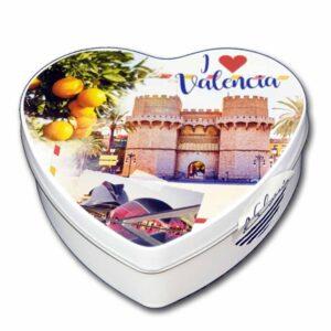 Caja souvenir Valencia corazón