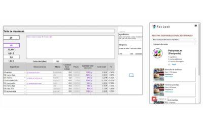 Escandallo para pastelería Excel  (actualizado + Recipok)