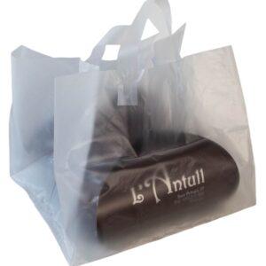 bolsa plástica para tartas con asa